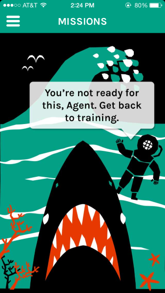Cognito Brain Training — you'll be surprised to see a shark, regardless of the context.