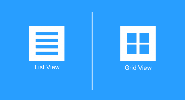 Mobile Ux Design List View And Grid View