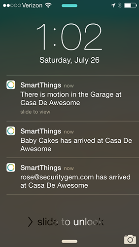 All push notification arrived at the same moment.