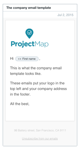 UX In Email Design - Email grid template