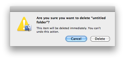 "When a user sees such dialog they might ""Was this really what I wanted to do?"""